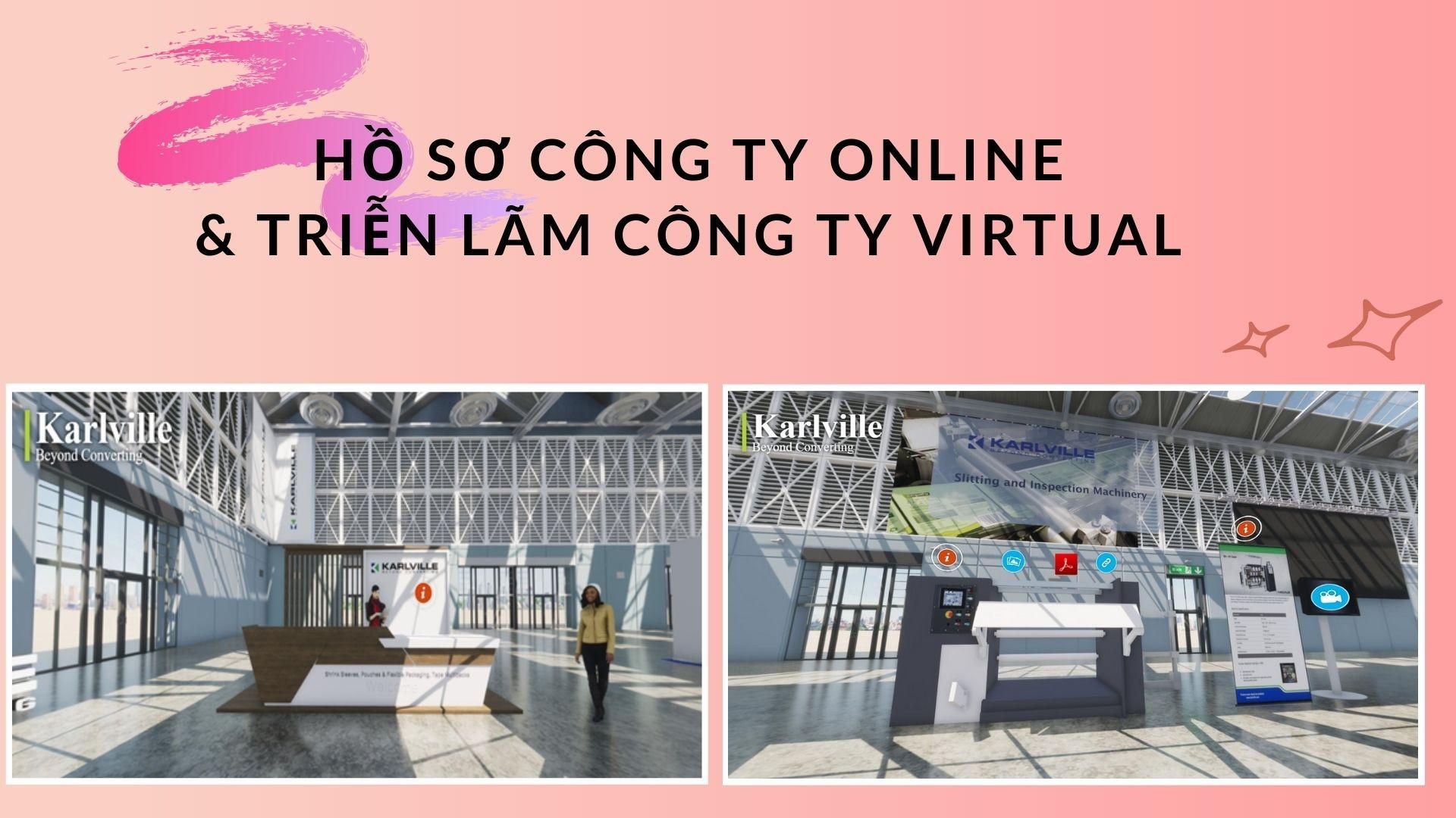 Hồ sơ công ty online & Triễn lãm công ty Virtual